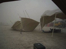 Strong winds-Burning Man 2010